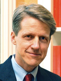 Robert James Shiller (* 29. März 1946 in Detroit) [Bildquelle: Yale University]