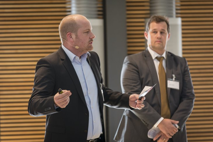 """Operational risk management – Barriers and practical experience"", Sebastian Schlaf and Stefan Koppold (MAN), from left."