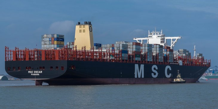 MSC Oscar is the largest container ship in the world (as of January 2015).