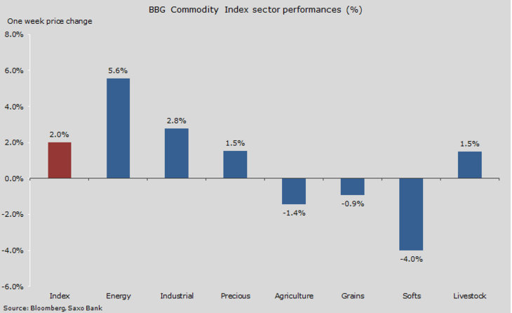 Figure 01: One week sector performance