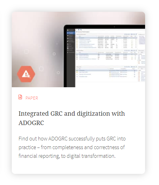Integrated GRC and digitization with ADOGRC