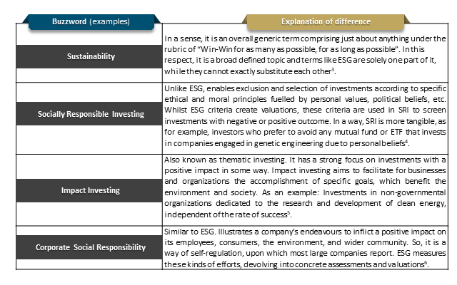 Figure 6: Selection of further buzzwords within the sustainability universe [Source: ifb]