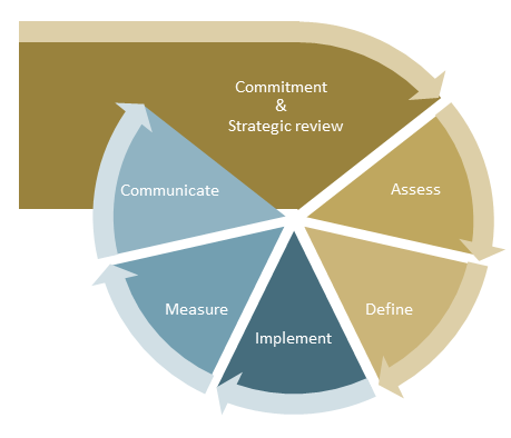 Figure 8: ESG implementation cycle [Source: ifb]