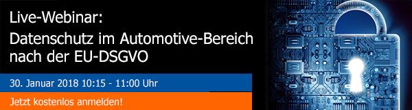 avedos Webinar: Datenschutz im Automotive Bereich