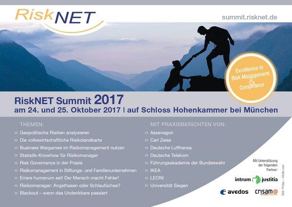 RiskNET Summit 2017, 24.-25. Oktober 2017