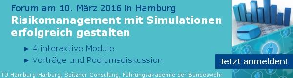6. Forum: Risikomanagement mit Simulationen erfolgreich gestalten