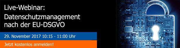 Webinar avedos Datenschutzmanagement